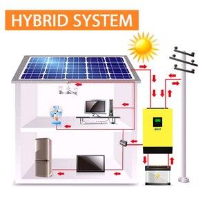 Image 2 - EASUN POWER 5000w Hybrid Solar power inverter 48v 230vac Grid gebunden + off grid 80A MPPT solar ladegerät 450vdc PV eingang