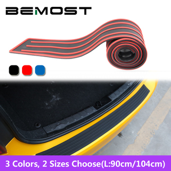 BEMOST Car Rubber Rear Guard Bumper Protect Pad Cover The Scratch Sticker For Subaru XV Forester Legacy Outback Impreza Justy image