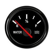 52 мм Автомобильный лодочный измеритель уровня воды 0~ 190 Ом индикатор уровня резервуара для воды для авто лодки 9~ 32 В с подсветкой