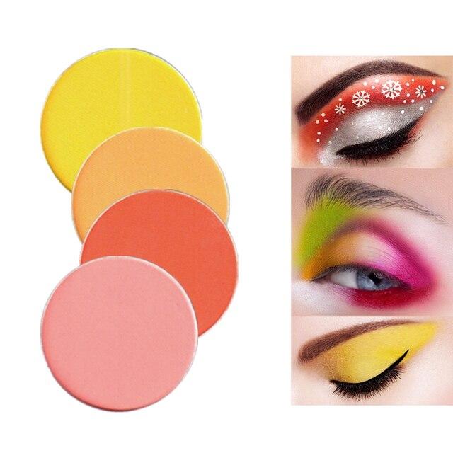 Color Salon Yellow coral Matte  Glitter Eyeshadow Powder Shimmering Colors Eye Shadow Palette Metallic Eye Makeup Cosmetic 1