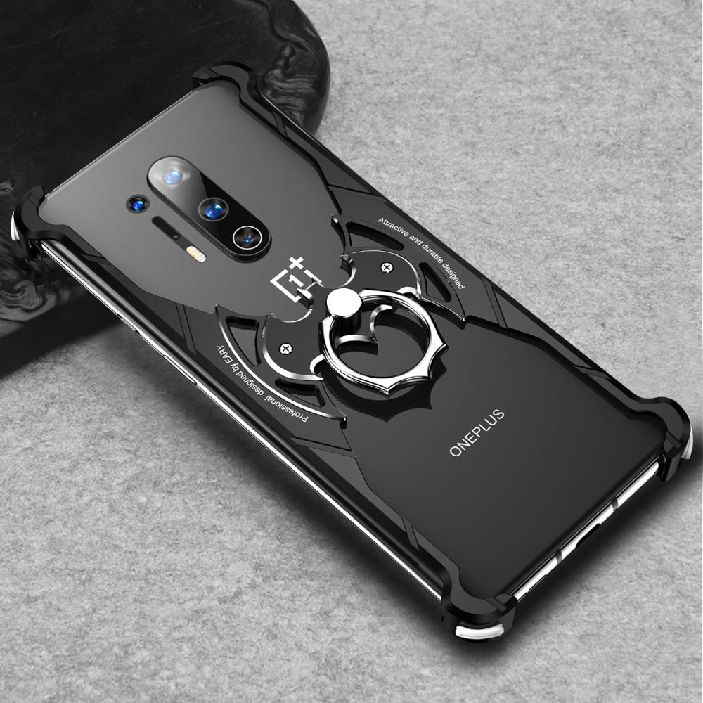 Luxury Oneplus Cool case Bat Design Batman Back Cover with ring holder metal ring Airbags EVA for Oneplus 8 & 8pro Metal Case