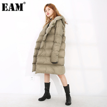 Long-Sleeve Down-Jacket Women Parkas Hooded Autumn Big-Size Fashion EAM Winter Fit Geen