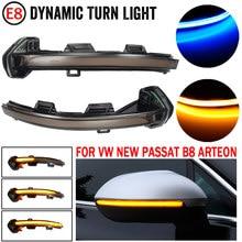 2 pçs carro dinâmico led turn signal light espelho retrovisor indicador blinker para vw passat b8 arteon 2015 2016 2017 2018 2019