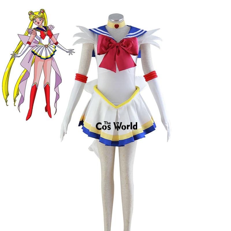 Beautiful Sailor Moon Tsukino Usagi Cosplay Costume Halloween Fancy Dress Outfit