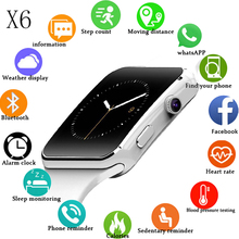 Top Smart Watch Support SIM TF Card h Camera Smartwatch X6 Bluetooth Dial/with Touch Screen For iPhone Xiaomi Android IOS