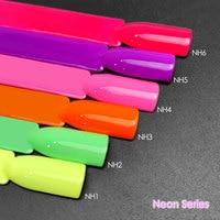 6 uds de Gel de Color barniz VENALISA uña Gel polaco de fluorescencia salón de Gel de uñas laca remojo UV LED brillante esmalte de uñas de Gel