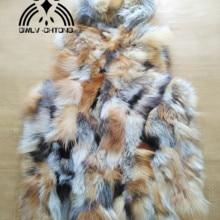 Новая оригинальная натуральная лиса меховой жилет с капюшоном женский красный жилет из лисьего меха зимняя куртка на заказ большие размеры