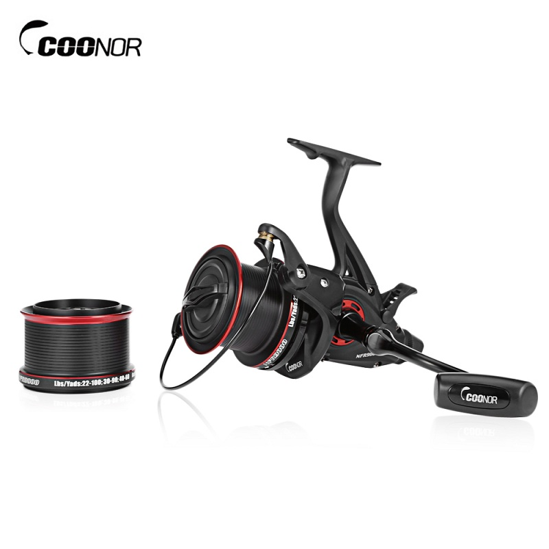 COONOR NFR9000+8000 Double Spool Fishing Reel 12+1 BB 4.6:1 Spinning Fishing Reel Foldle Left/Right Handle Fishing Spinning Reel
