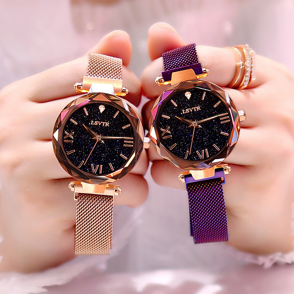 Luxury Women Watche 2019 Fashion Watches Magnetic Starry Sky Female Clock Quartz Wristwatch Ladies Watch Felogio Felogio Feminin