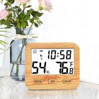 Electronic Thermometer Hygrometer Digital LCD Screen Display Wooden Temperature Humidity Meter Smart Home Tempe Sensor For Baby