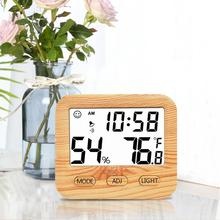 Electronic Thermometer Hygrometer Digital LCD Screen Display Wooden Temperature Humidity Meter Smart Home Tempe Sensor For Baby все цены