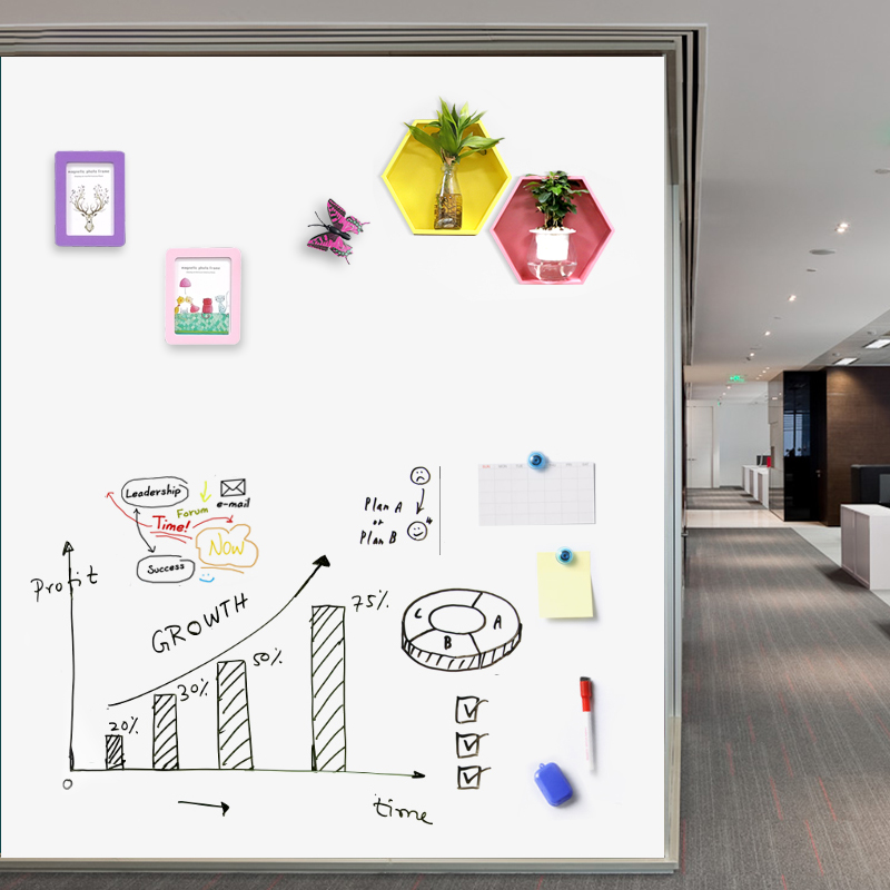 Flexible Erasable Drawing Toy Whiteboard Removable White Board Sheets Writing Toys Glass Tile Film Stickers Office Decor for Kid