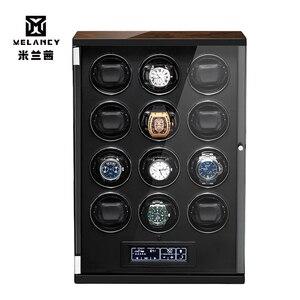 2020 nuevo negro automático 12 reloj bobinador de lujo mecánico reloj bobinador silencioso caja de Motor electrónico