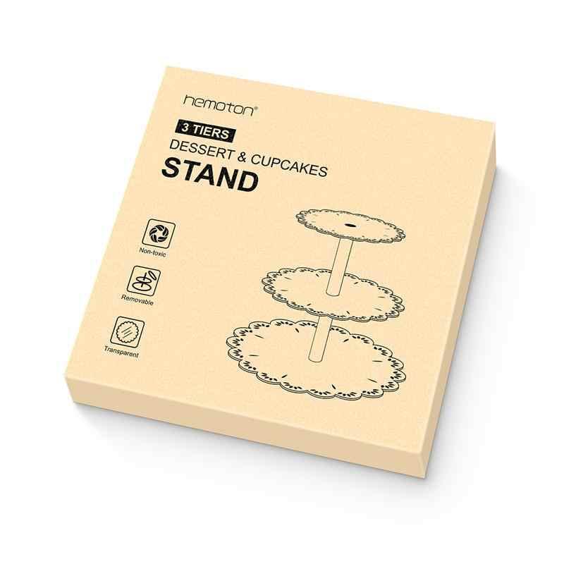 3 Tingkatan Wedding Dessert Kue Stand Round Acrylic Kue Pohon Tower Melayani Piring Perlengkapan Pesta Ulang Tahun (Transparan)