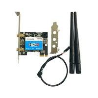 Wircard sem fio-ac 8265 867mbps 802.11ac dupla banda pci-e adaptador wifi pci express cartão para intel 8265ac + bluetooth 4.2