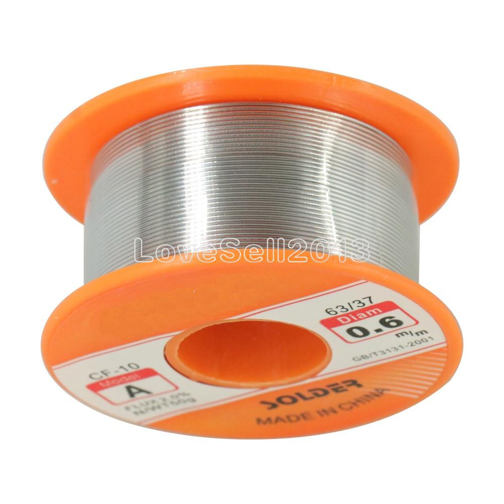 1PCS 63/37 Rosin Core Solder Wire Flux 2% Tin Lead Solder Iron Welding Wire Reel 0.6mm 50g High Quality