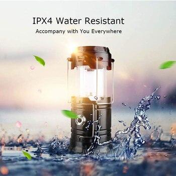 Luz de tienda de campaña LED recargable, Luz de camping al aire libre, Luz de trabajo portátil, Luz de emergencia, USB