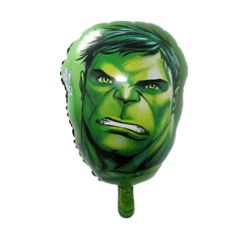 4 stks/partij De Avengers Hero hoofd Folie ballon Captain America Hulk Spider Man verjaardag party Decor speelgoed