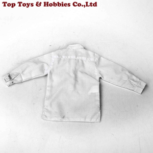 1:6 Scale Male White Shirt Long-sleeved White Button Top For 12-inch Body Figure Doll Accessories