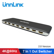 Scollega Switch 2.0 compatibile HDMI 7X1 UHD4K @ 60Hz HDCP 2.2 HDR 7 In 1 Out con telecomando IR per Smart TV MI Box3 proiettore PS4