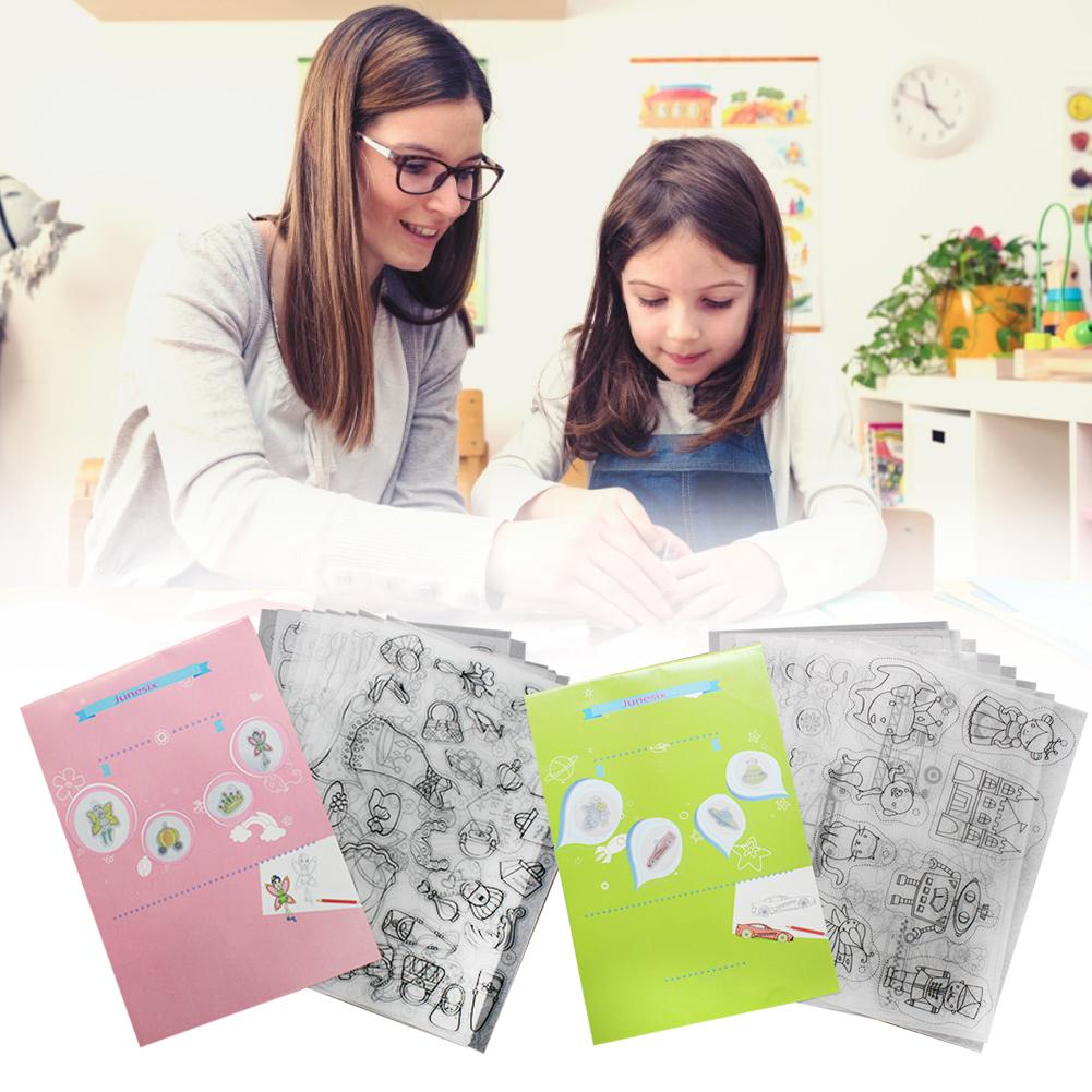 Heat Shrink Film Shrinky Art Paper Film Sheets With Pattern For Kids Creative Craft Keychains Kids DIY Toys