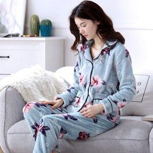 Image 2 - 2020 yetişkin pijama kadın pazen pijama Unisex sevimli Unicorn dikiş karikatür hayvanlı pijama setleri çocuklar kapşonlu pijama gecelik