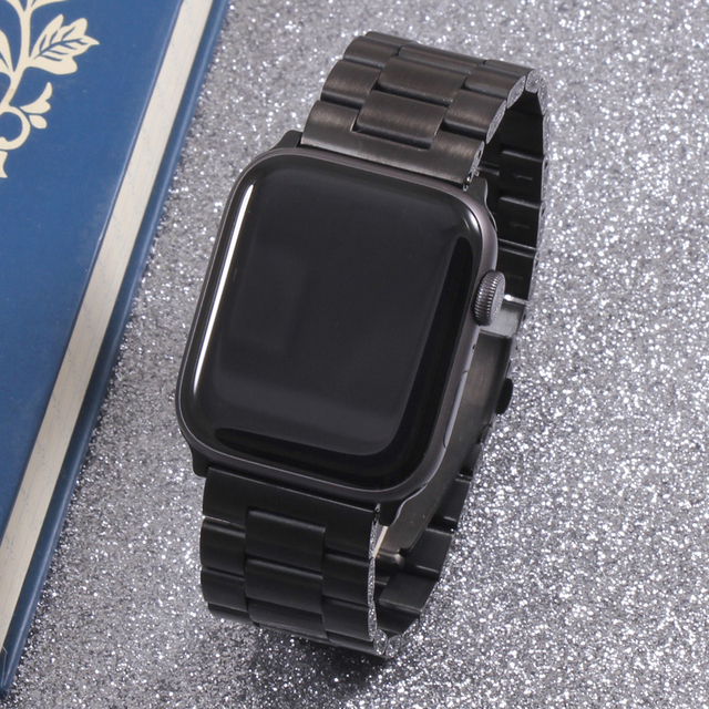Band For Apple Watch6 5 4 3 2 1 42mm 38mm 40MM 44MM Metal Stainless Steel Watchband Bracelet Strap for iWatch Series Accessories 5