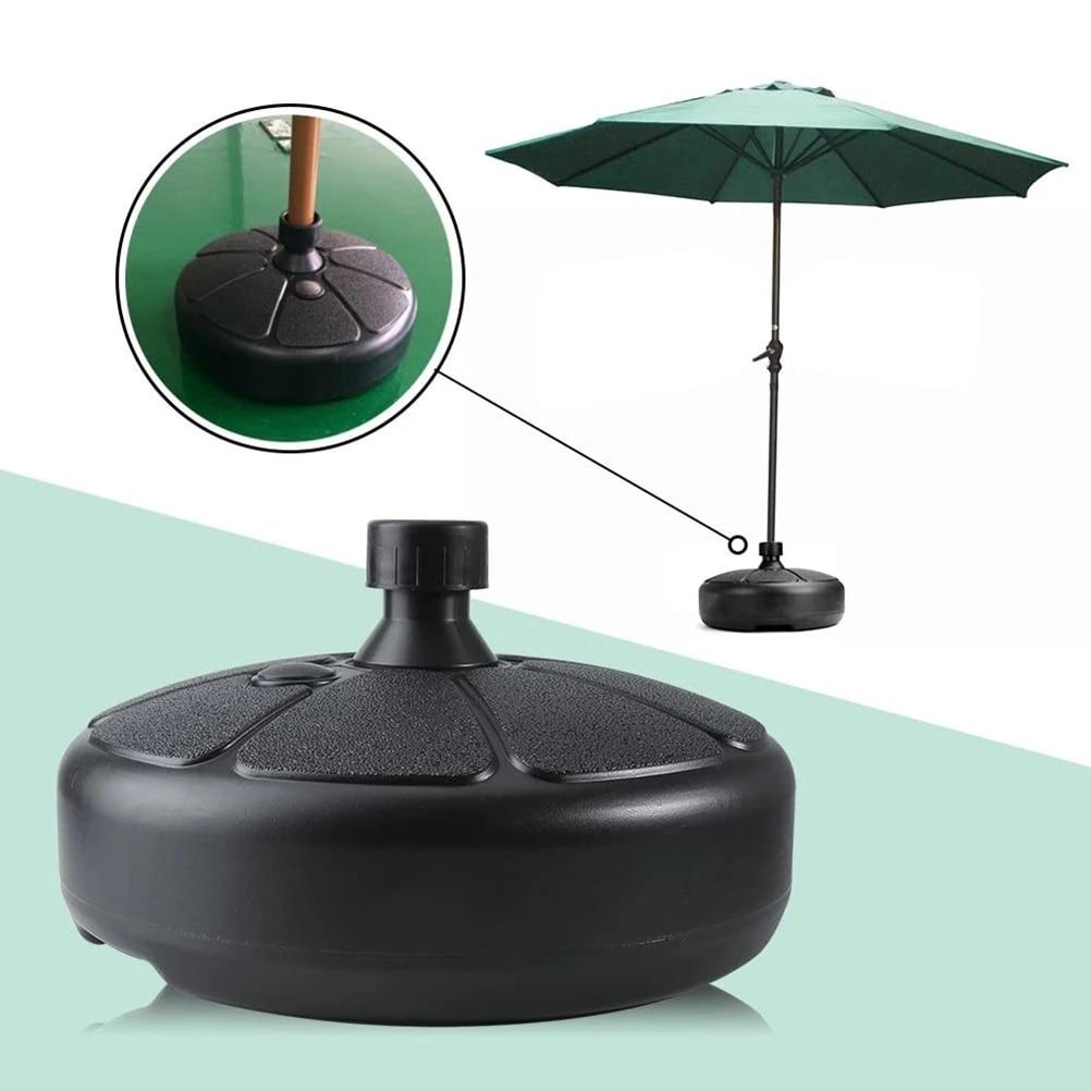 portable outdoor parasol garden umbrella base stand round patio beach garden patio umbrella support sun shelter accessory