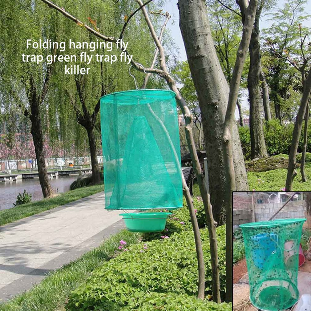 3x Folding Mosquito Trap Mesh Net Hanging Insect Catcher Outdoor Home Decor Sets