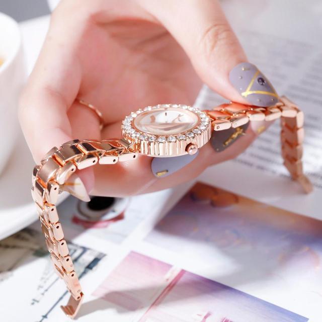 Luxury Bracelet Watches Set For Women Fashion Geometric Bangle Quartz Clock Ladies Wrist Watch Zegarek Damski 3