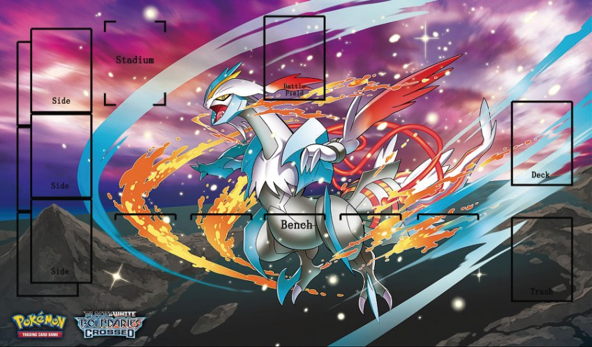 Takara Tomy PTCG Accessories Pokemon Card Game Table Playmat Kyurem Toys For Children