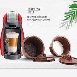3 sztuk/paczka wielokrotnego napełniania Dulce Gusto filtr do kawy Refilable kapsułki 2 typu kapsułka wielokrotnego użytku do kawy Dolcegusto w Filtry do kawy od Dom i ogród na