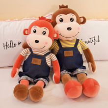цены New Style Wear Clothe Monkey Doll Soft Plush Toys Cute Monkey Stuffed Animal Plush Doll Children Toy Girls Gift