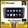 Автомагнитола 2 DIN Android 8,1 для Toyota Avensis T25 2002 2008 2007 2006 2005 2004 7 ''GPS-навигация RDS 4G Bluetooth автомобильная стереосистема