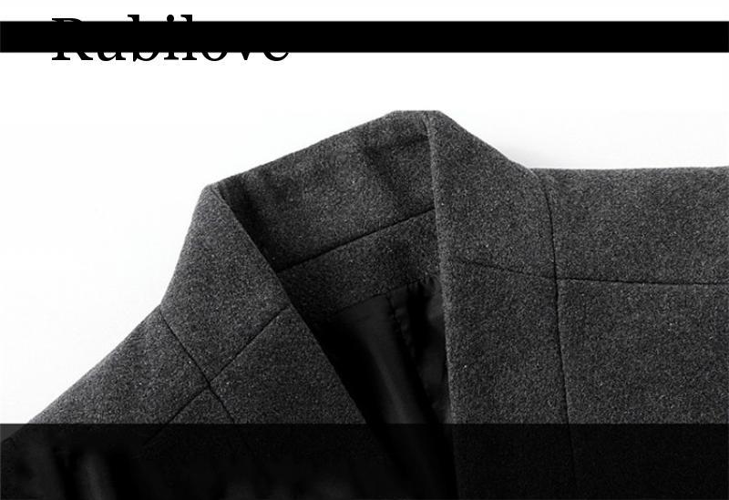 Rubilove 2019 Men Winter Jacket Long Mens Overcoats Warm Thicken Mens Wool Jacket Men Winter Jackets Coats Men in Wool amp Blends from Men 39 s Clothing