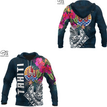 Newfashion tahiti país arte bandeira cultura tribal retro streetwear agasalho masculino/feminino pulôver 3dprint engraçado casual hoodies d24