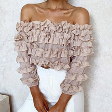 Vintage Ruffles Pleated Off Shoulder Tank Tops Women Summer Pink White Elastic Cotton Crop Top Cool Girls Streetwear Tees 2019 white pleated design off shoulder crop top