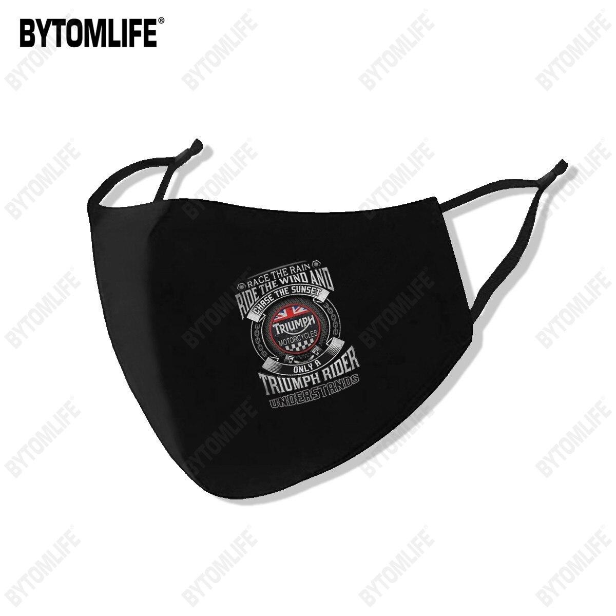 Гонка под дождем TRIUMPH маска изготовлен из полиэстра, стирающаяся дышащая многоразовые Водонепроницаемый-и пыленепроницаемости: хлопковая ...