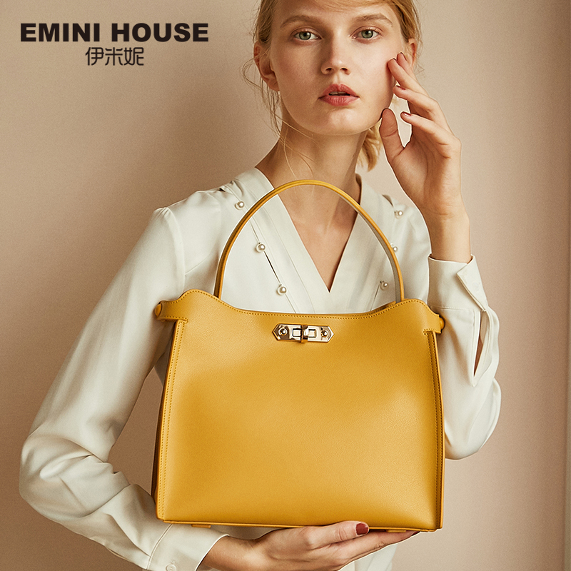 EMINI HOUSE Split Leather Handbag Casual Tote Luxury Handbags Women Bags Designer Crossbody Bags For Women Shoulder Bag