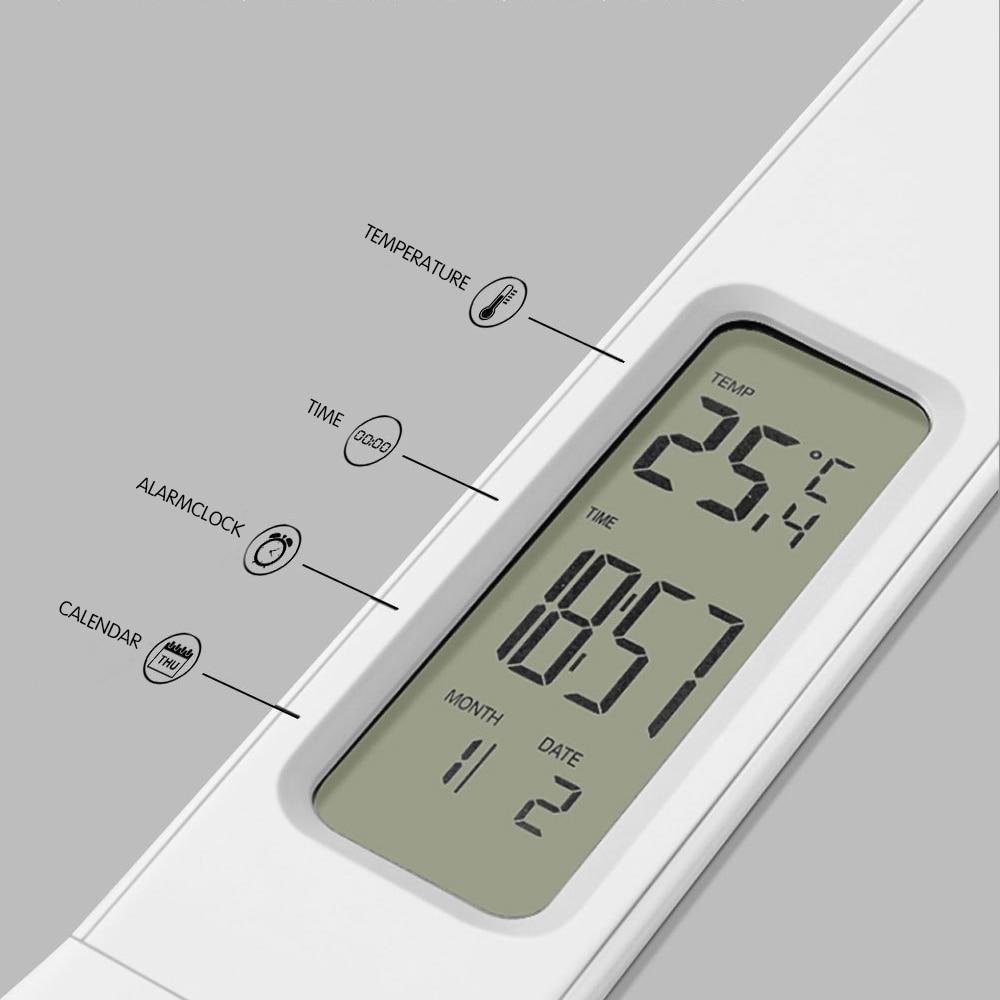 Đèn LED Để Bàn Kỹ Thuật Số Gấp Mờ Đèn Cảm Ứng Đèn Có Lịch Nhiệt Độ Đồng Hồ Báo Thức USB 5V Thời Gian Đèn Ngủ