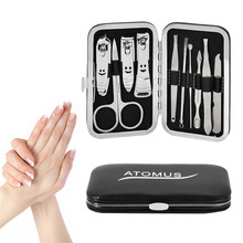 все цены на 10 Piece/Set Stainless Steel Nail Art Manicure Tools Set Nails Clipper Scissors Tweezer Knife 10 in 1 Pedicure Nail Accessories онлайн