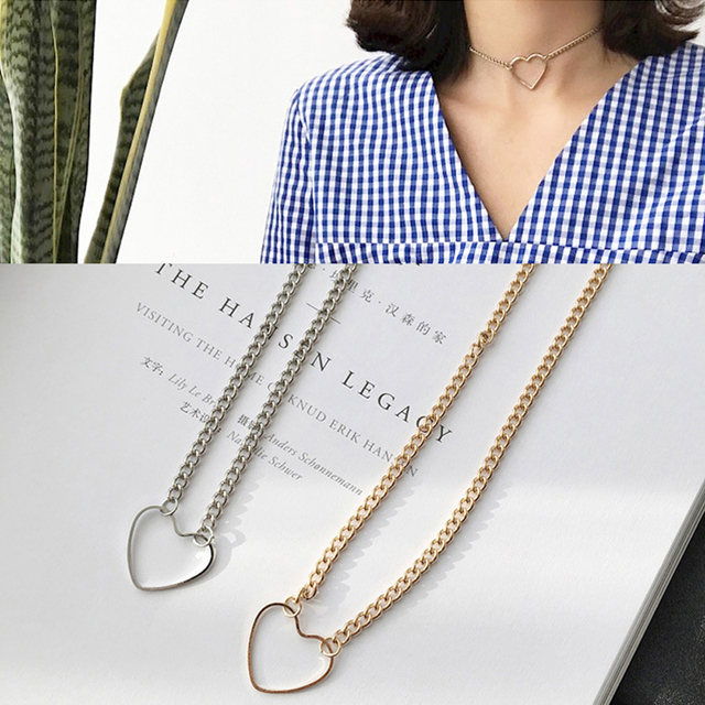 Heart Choker Necklaces 3