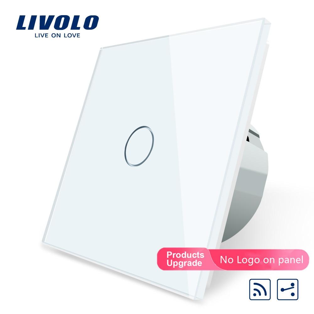 Livolo EU Standard Wireless Switch 1Gang 2 Way, AC 220~250V ,With Remote Function,C701SR-1/2/3/5,no Remote Controller,no Logo