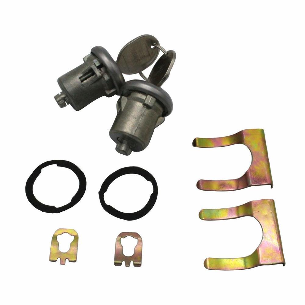 Lockcraft Silver Door Lock Cylinder Barrel Lock Set SUV Door Lock Set Auto Lock Latch Modified Door Lock