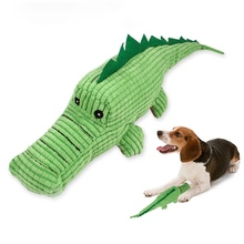 Pet Dogs Molar Toy Plush  for Cleaning Teeth Chew Green Crocodile Squeaky
