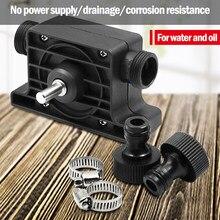 Pompa per trapano elettrica pompe di trasferimento autoadescanti pompa per acqua del fluido dell'olio gambo tondo portatile mano autoadescante resistente