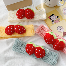 1pc Cute Multicolor Strawberry Fruit Headband Woman Face Makeup Polyester Spandex Cloth Hair Band