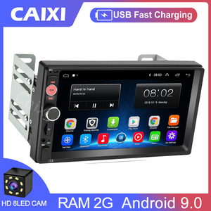 CAIXI Car Radio Multimedia Player RAM 2GB Car Android 9.0 2Din Autoradio DVD For Toyota Ford VW Nissan Hyundai kia Peugeot Honda
