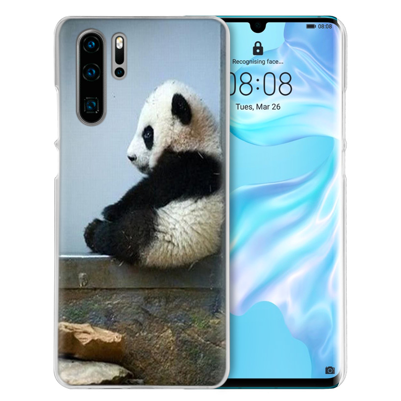 Image 4 - Case Cover For Huawei Honor P20 Mate 20 10 P10 P9 P8 8X 9 Lite P Smart + Plus 2017 2019 Nova 3i Clear Cute Animal Panda Fundas-in Half-wrapped Cases from Cellphones & Telecommunications