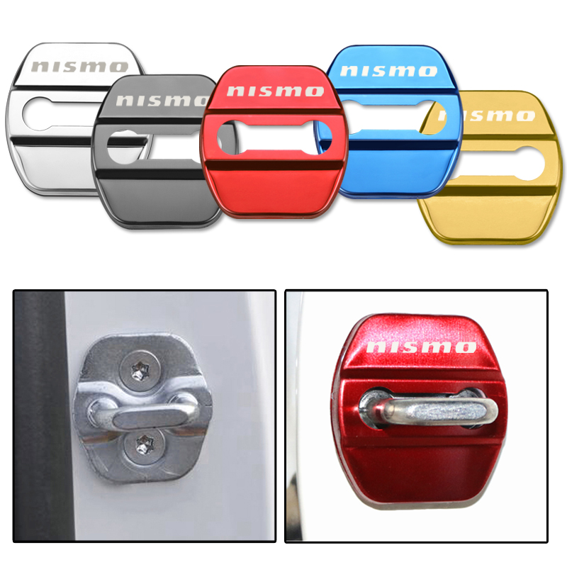 Door Lock Decoration Protection Cover Emblem Case For Nissan Nismo X-trail Almera Qashqai Tiida Teana Accessories Car Styling